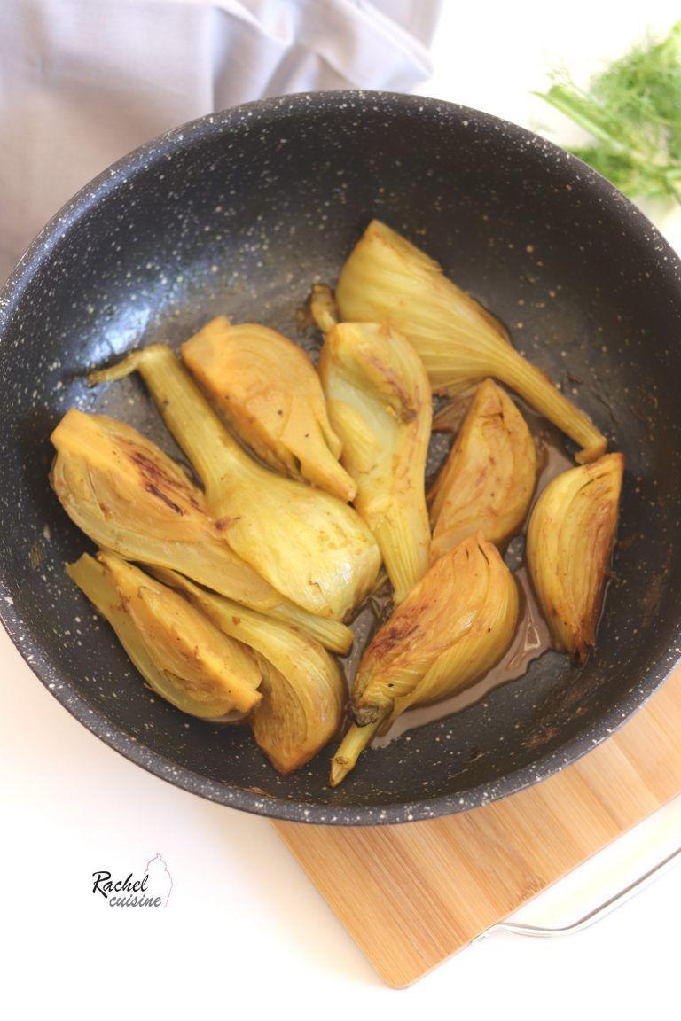 Fenouil confit aux épices - Rachel cuisine #vegetarischerezepteschnell