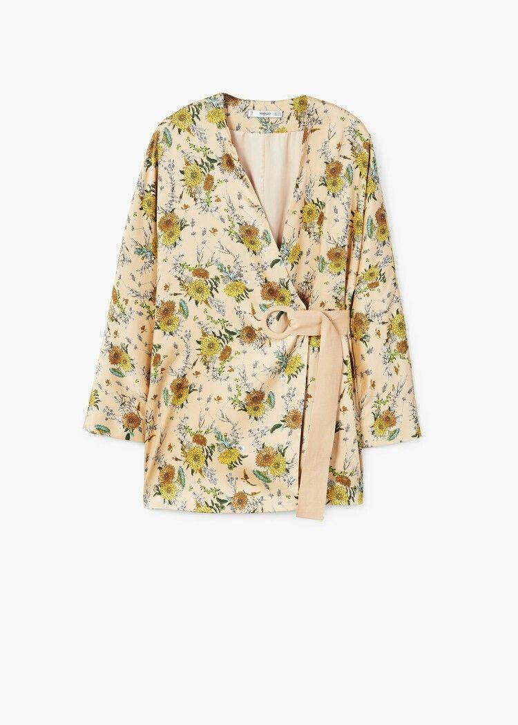zapatos genuinos siempre popular colores delicados Mango kimono | Long sleeve kimono, Kimono, Fashion