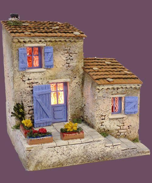 santons atelier de fanny santons et cr ches de no l santons de provence maison de village n 4. Black Bedroom Furniture Sets. Home Design Ideas