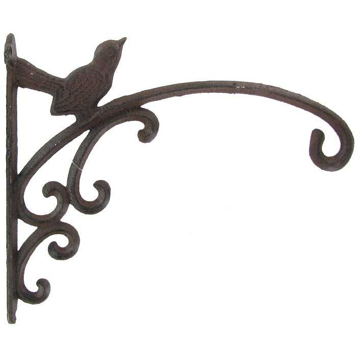 Vintage Rustic Metal Hanover Forge Lantern Bracket Wall Mount Hook Hanger Holder