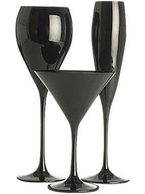 Linea Olga Black Glass Range House Of Fraser Black Glass Black And White Decor Glass