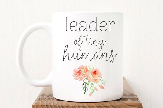 Daycare Provider Gift, Daycare Teacher Gift, Babysitter Gift Idea Nanny Gift, Preschool Teacher Gift, Leader of Tiny Humans Mug #eceappreciationgiftideas