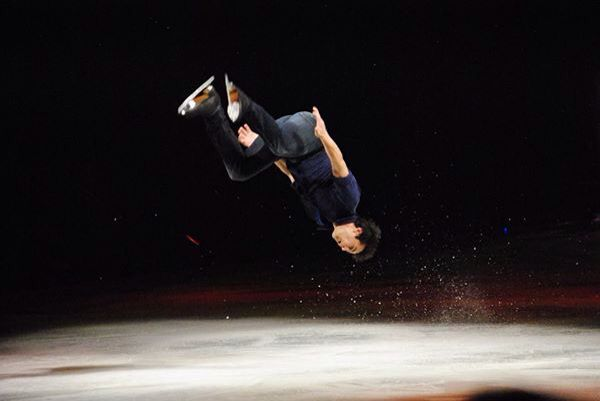 Stars On Ice 2015 back flip on ice and landed!
