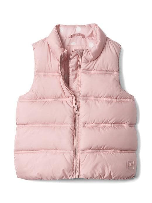 d6a064e5b Gap Baby Puffer Vest Pink Icing 229 Size 3 YRS Girls Puffer Vest, Pink Icing