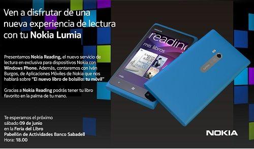 Nokia invita a todos a leer en la feria del libro. Habrá especialistas que nos enseñen el nuevo Nokia reading