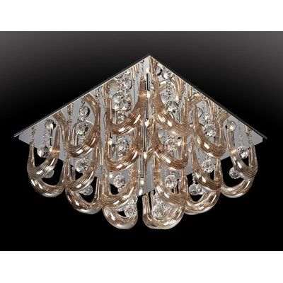 House of Hampton Melvina 16-Light Flush Mount
