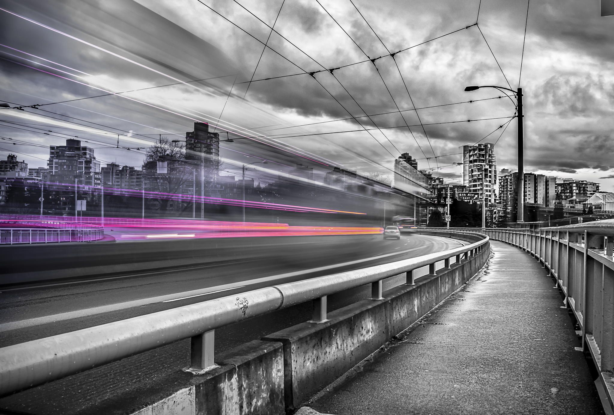 Traffic Light Expansion - This was taken at Granville bridge, Downtown Vancouver, British Coloumbia.