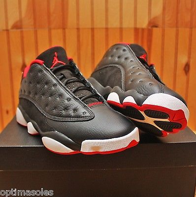 cf62afe192f6 Nike Air Jordan XIII 13 Retro Low Size 8 - Black Red White Bred - 310810 027