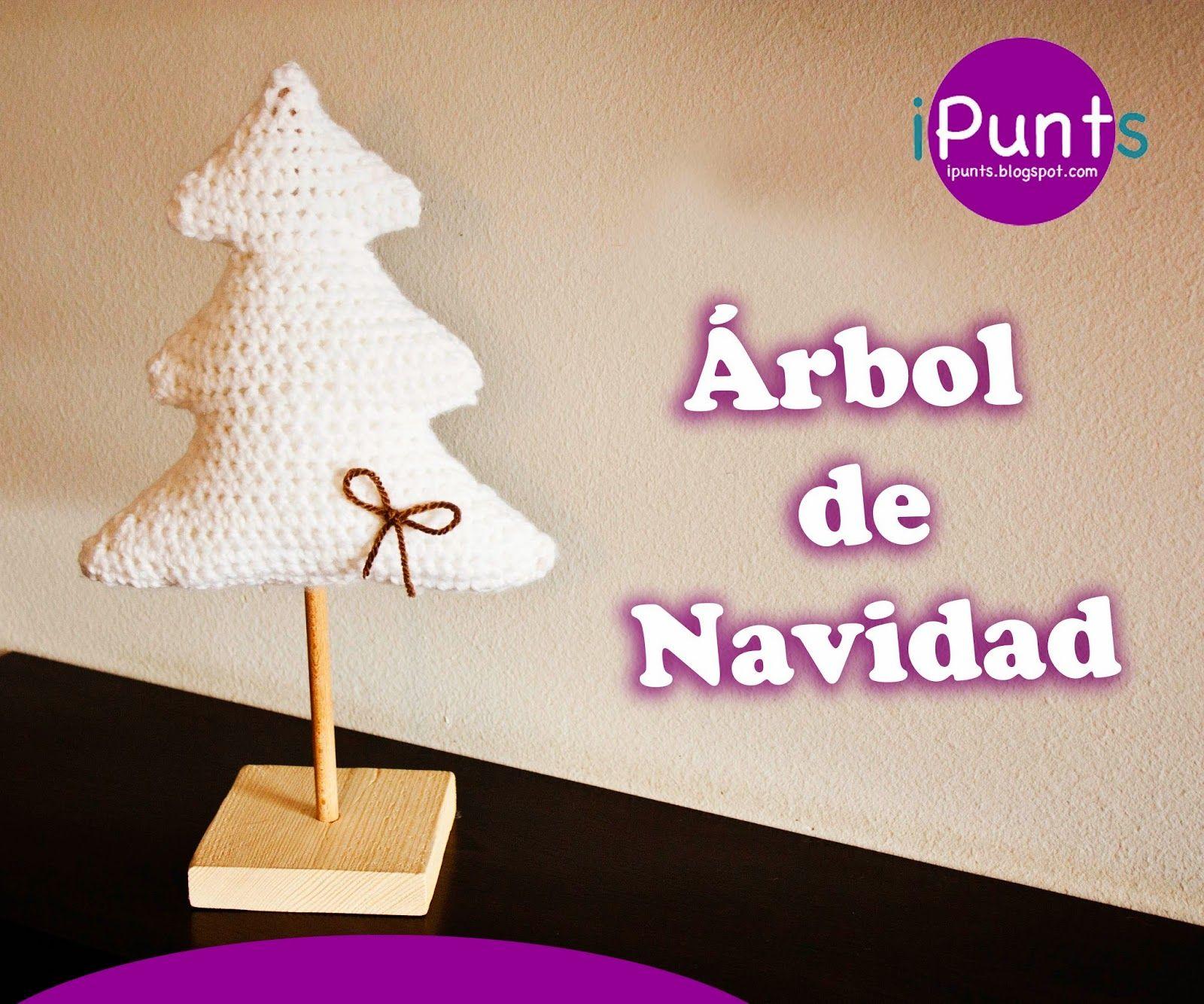 árbol navidad crochet ganchillo ipunts patron gratis fácil paso a ...