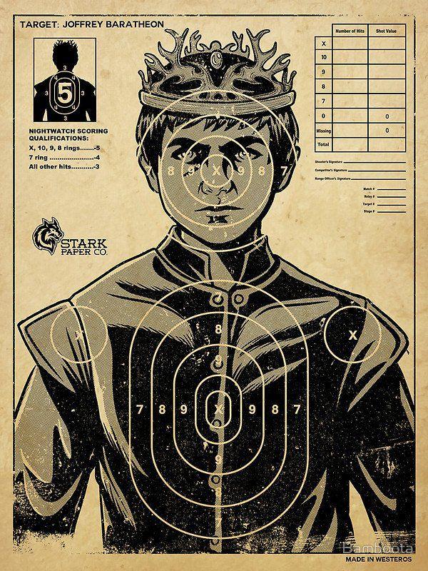 Joffrey Baratheon Target Need To Get Back To The Shooting Range