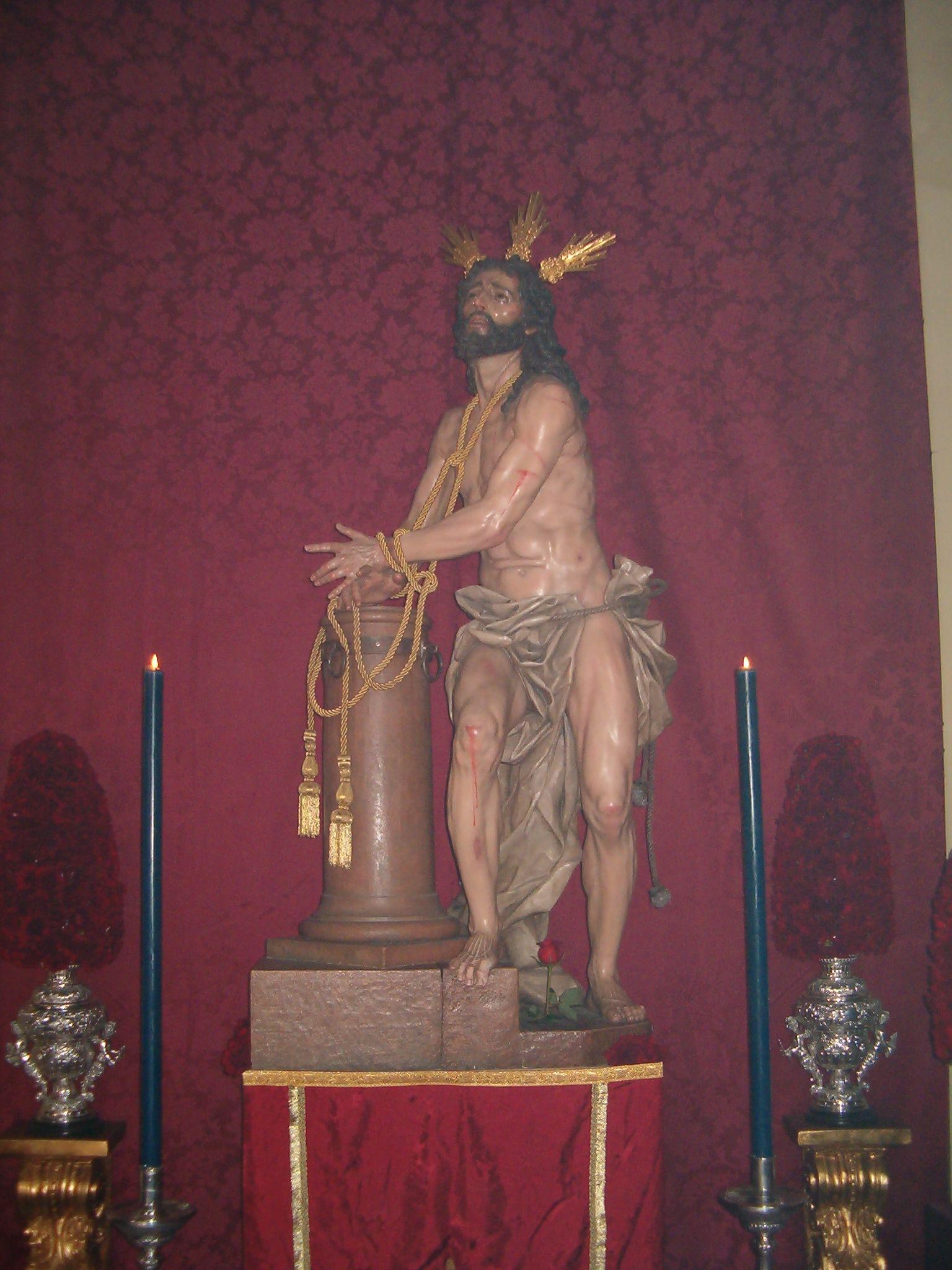 imagen del cristo de humildad y paciencia
