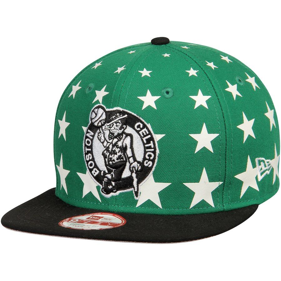 4d23e835276 Men s Boston Celtics New Era Green Black Starry Cap Original 9FIFTY  Adjustable Hat