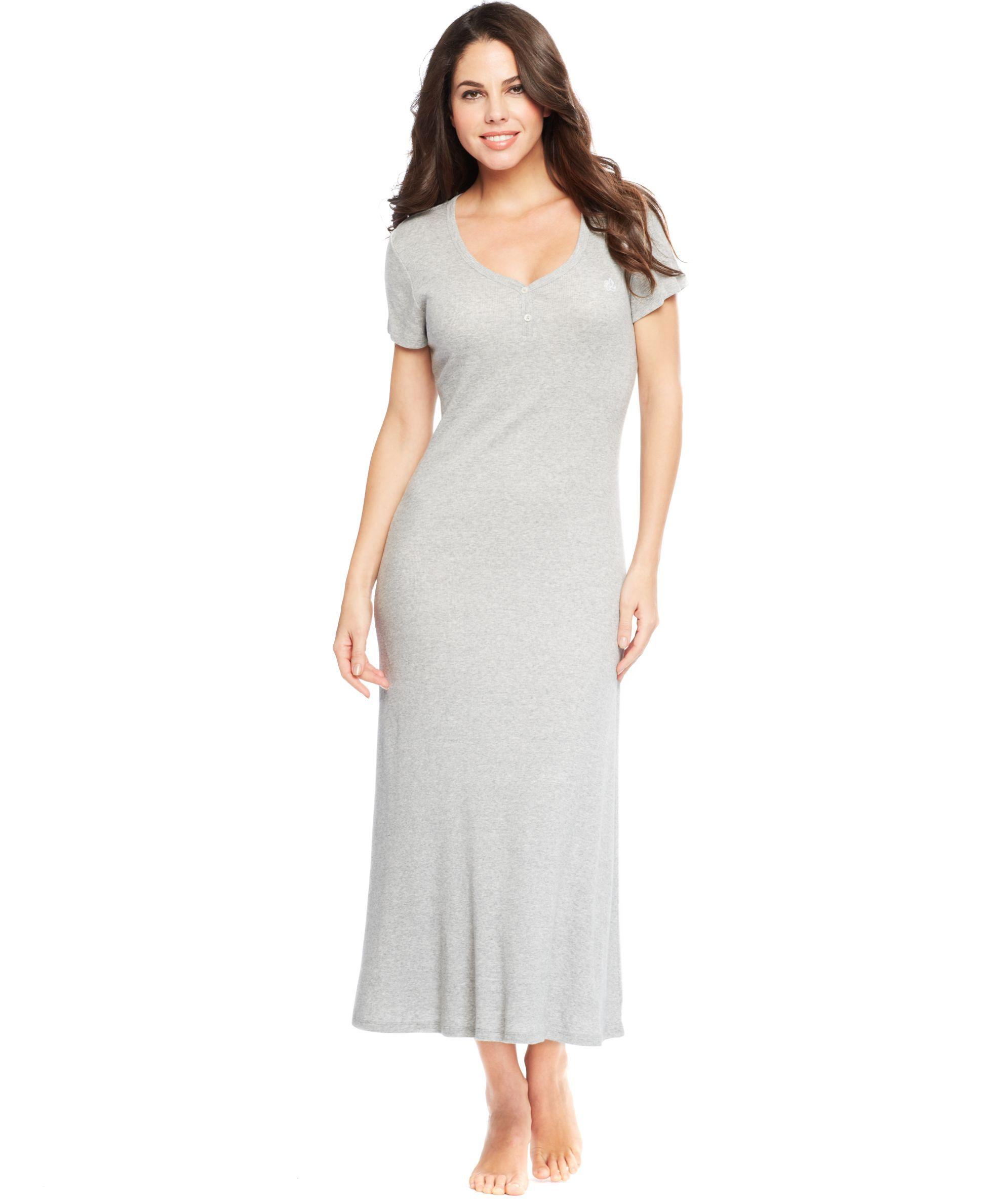 Lauren ralph lauren short sleeve vneck maxi gown products