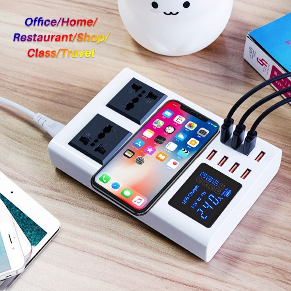 8 ports qi wireless fast charger for iphone 6 7 8 7plus x