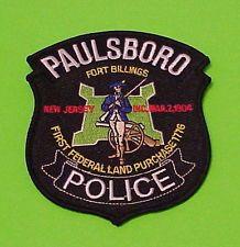 PAULSBORO  NEW JERSEY   POLICE PATCH