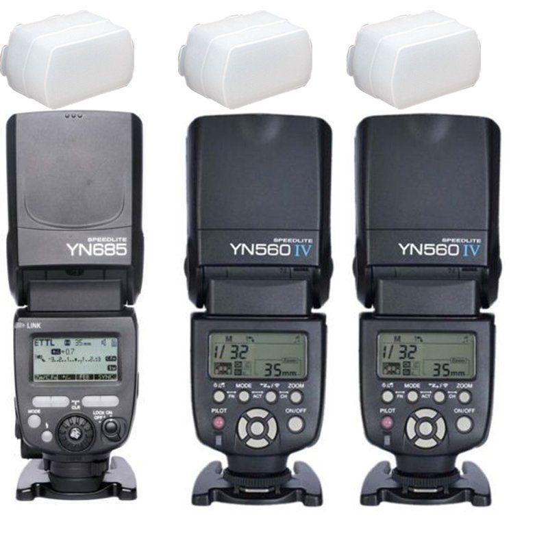 Yongnuo YN685 E-TTL +2* YN560 IV 2.4G Wireless Flash Speedlite for Canon 7D 7DII #Yongnuo