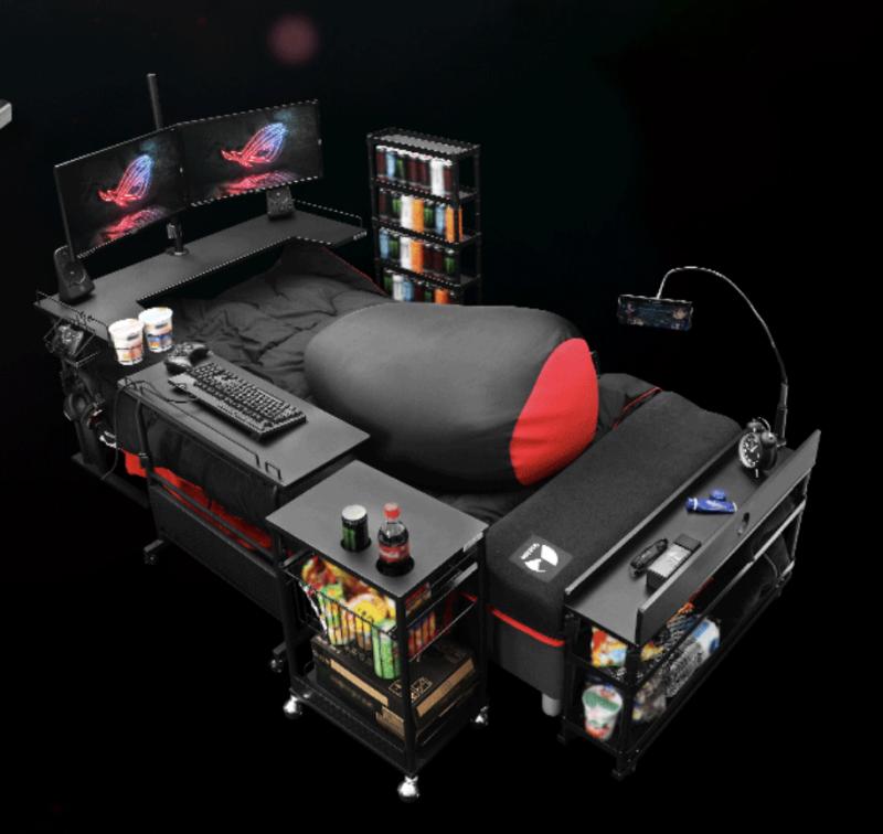 Japanische Firma Baut Das Perfekte Gamer Bett Gameroom Ideen Computerspielraum Gamer Zimmer