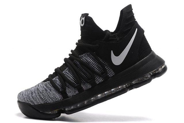 Good Production Line Nike KD 10 Kevin Durant Oreo Black White Men's  Basketball Shoes Sneakers