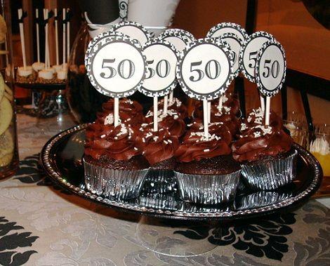 50 cumplea os cupcakes fiesta 75 pinterest cupcakes - Ideas para celebrar 50 cumpleanos ...