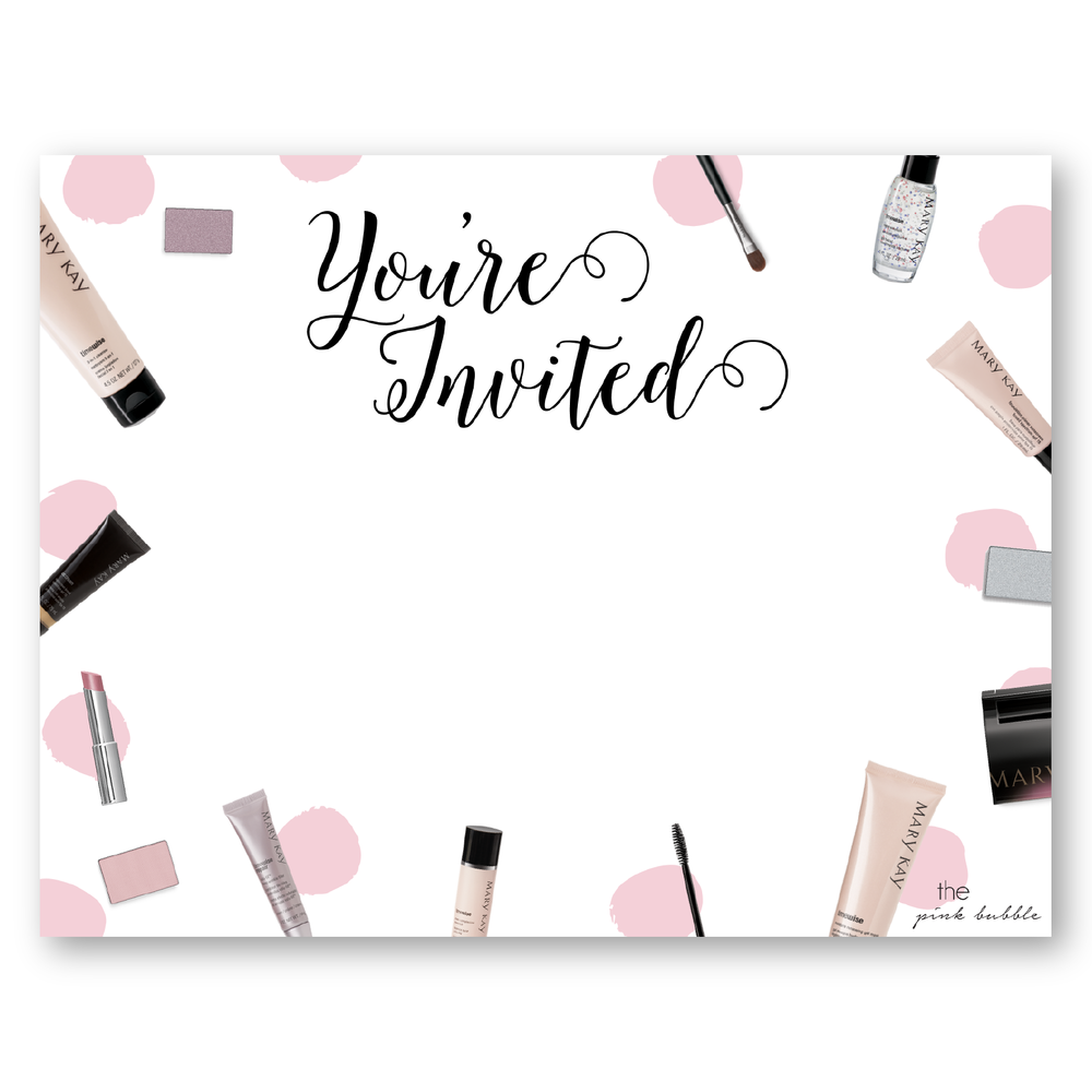 Mary kay party invitations to create dreams party for Mary kay invite templates