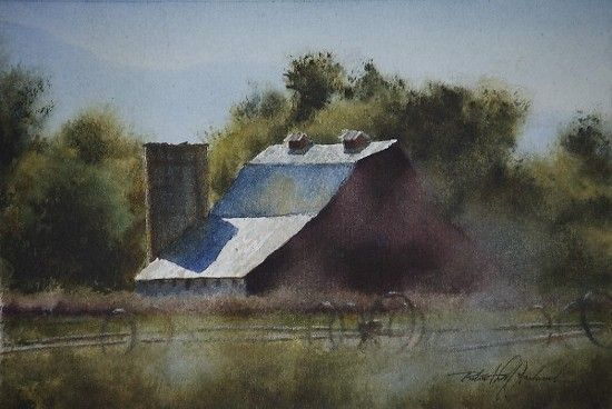 Tin Roof Ii By Robert Mcfarland 5 1 2 X 8 Watercolor Mountains Tin Roof Beach Watercolor