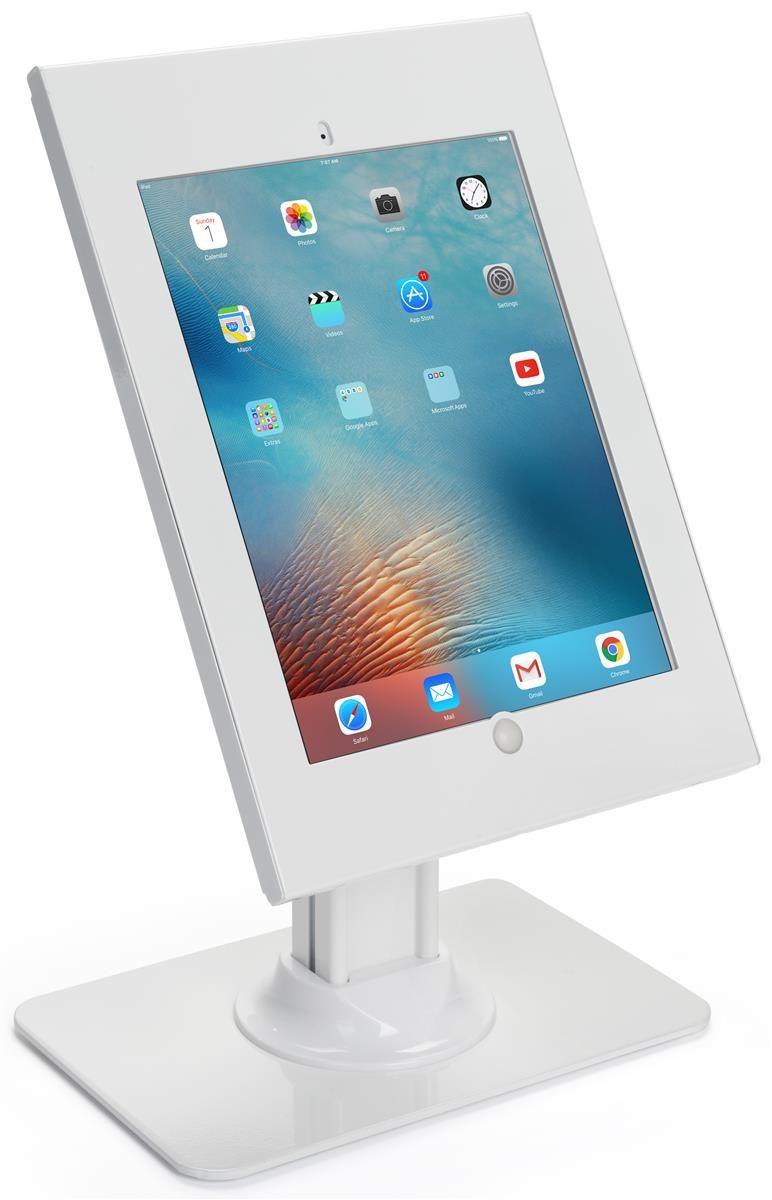 Ipad Pro Counter Stand Rotating Locking Enclosure W X2f Exposed Home Button White Ipad Pro Ipad Macbook Pro Keyboard