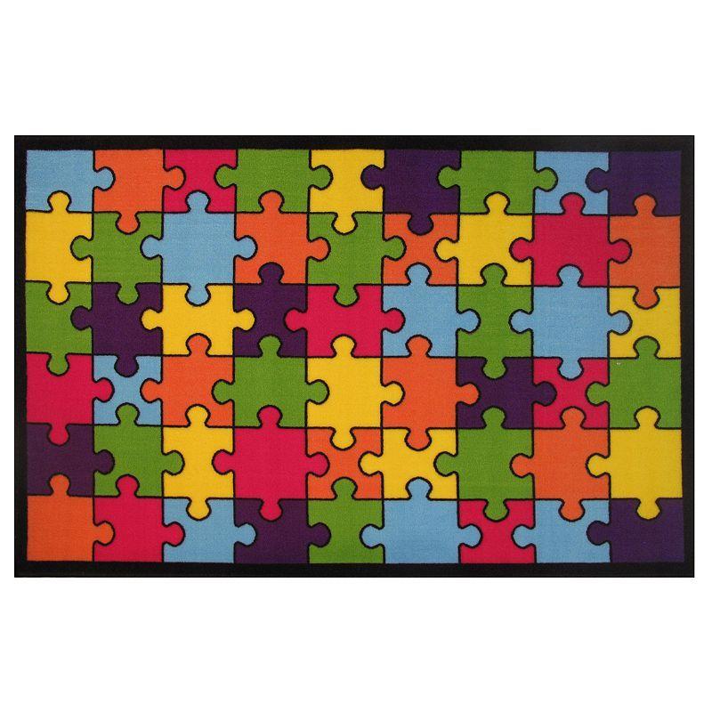 Fun Rugs Time Jigsaw Puzzle Rug