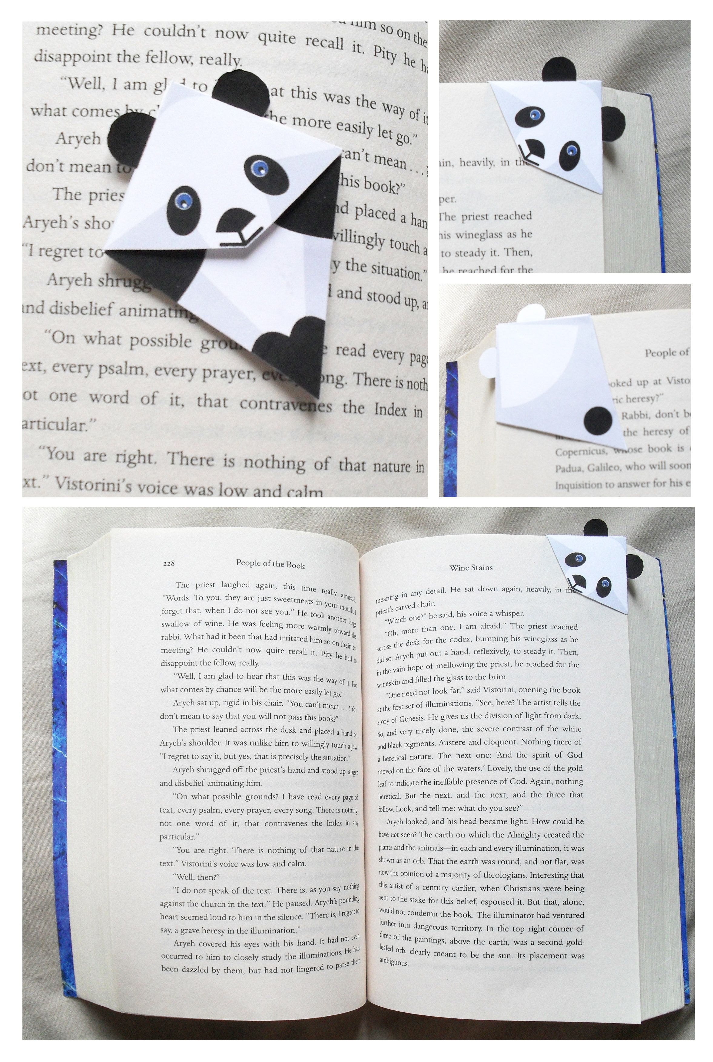 Paginas De Libros Pdf Panda Corner Bookmark Printable Pdf File For 2 Hogar