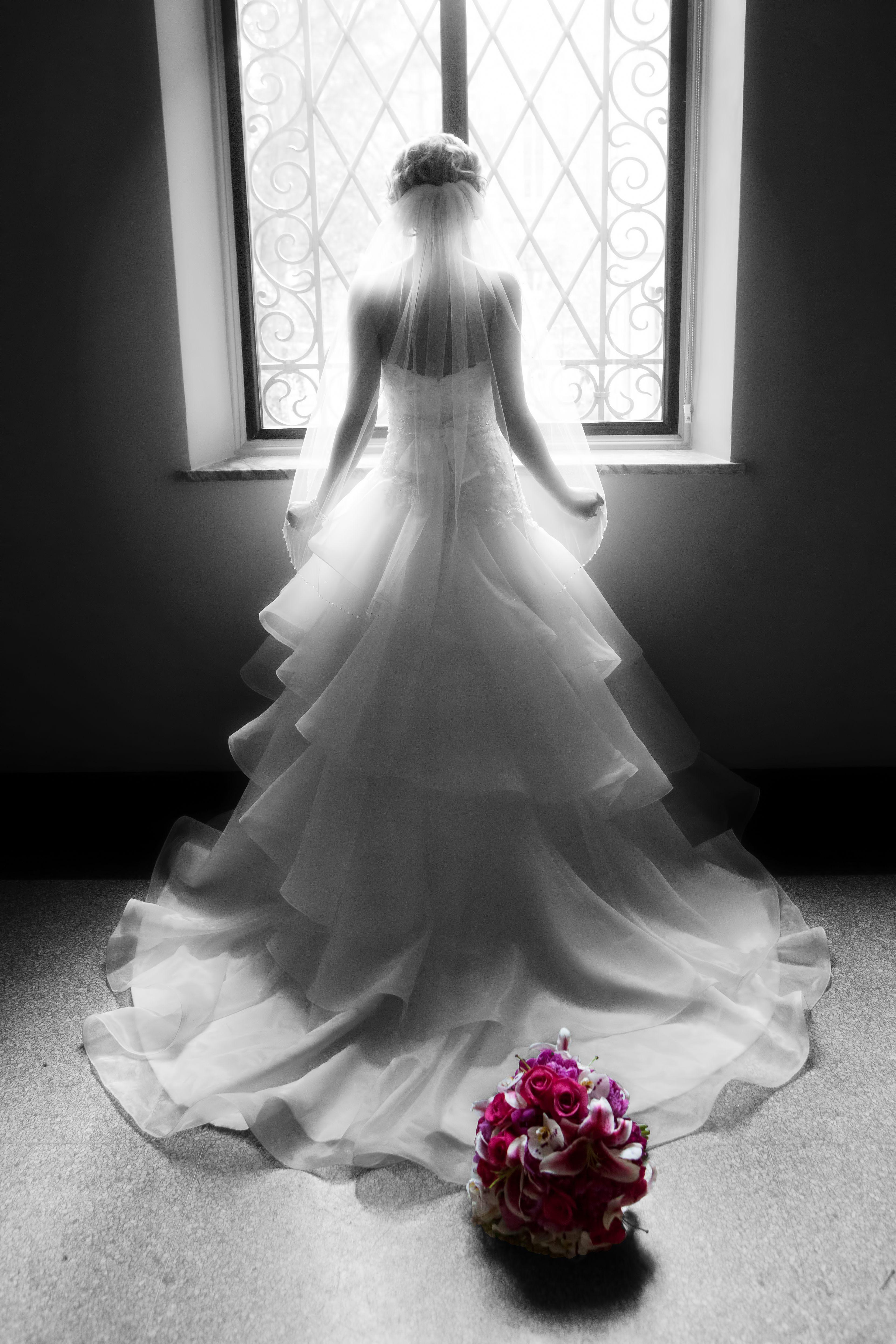 Bride in silhouette....