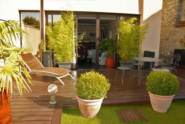idees deco terrasse recherche google d co jardin pinterest terrasses bambou et pots. Black Bedroom Furniture Sets. Home Design Ideas