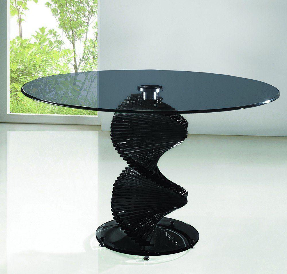 Twirl Designer Round Glass Dining Table Glass Round Dining Table Glass Dining Table Dining Table [ 956 x 1000 Pixel ]