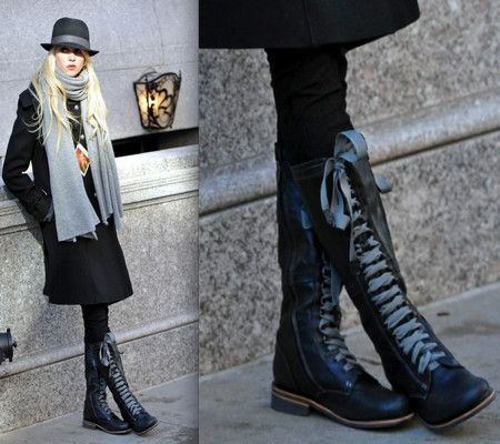 1000  images about BOOTS 'N LACES on Pinterest | Black ankle boots ...
