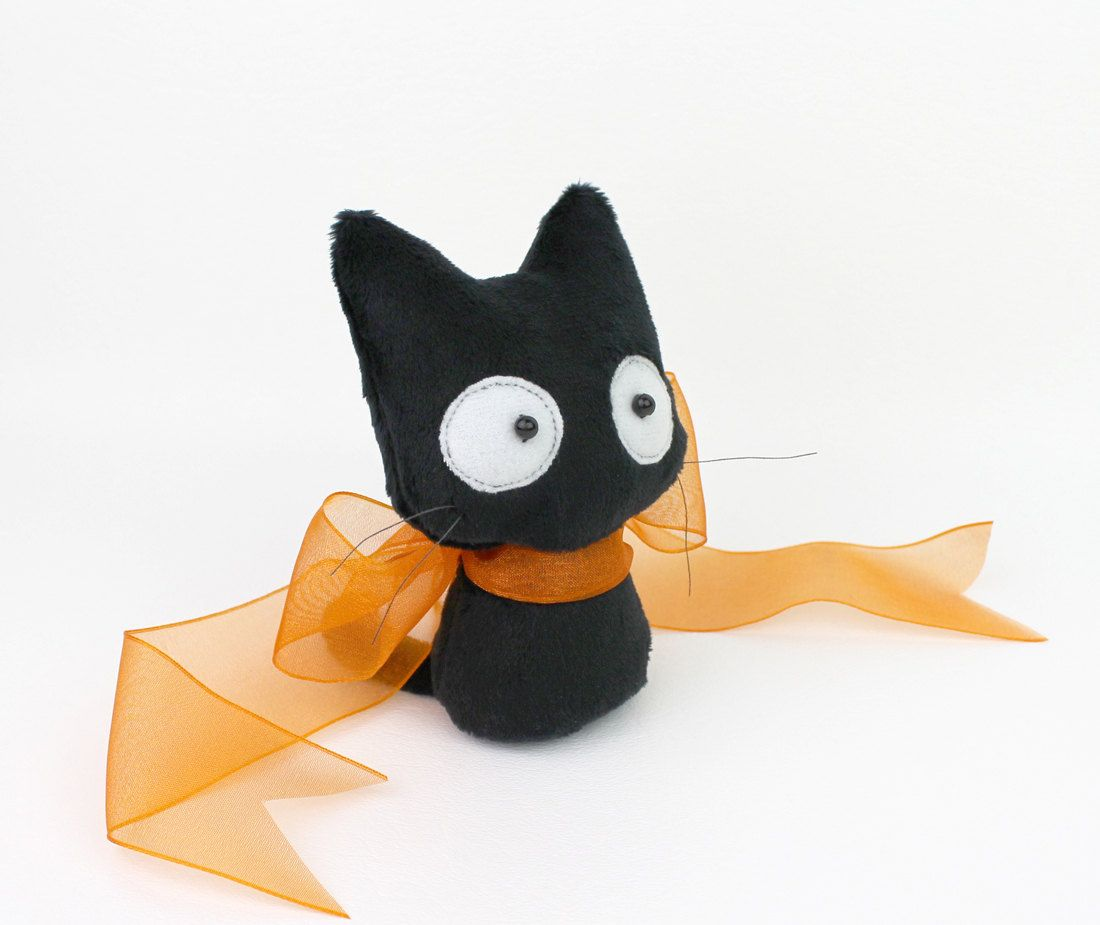 PDF sewing pattern - Scaredy Cat stuffed animal 2 sizes plush - easy ...
