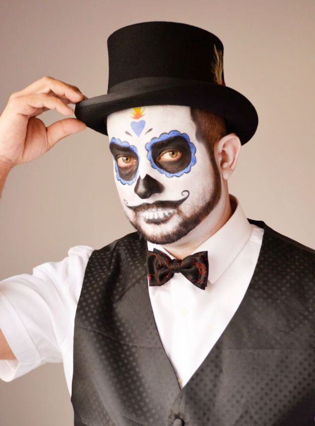 Day Of The Dead Makeup Tutorial For Guys Costumes Dead Makeup