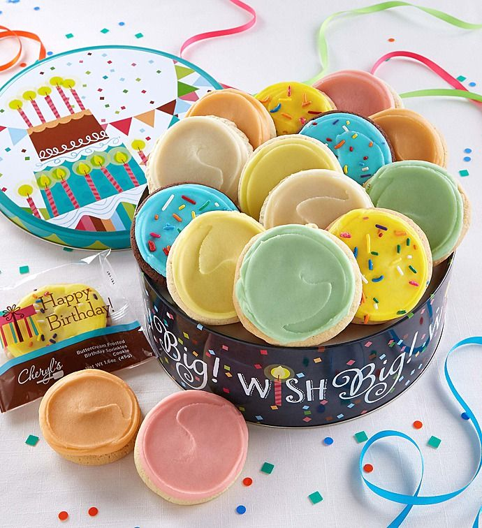 Musical Birthday Gift Tin - Frosted | Kosher Food | Cheryls.com ...