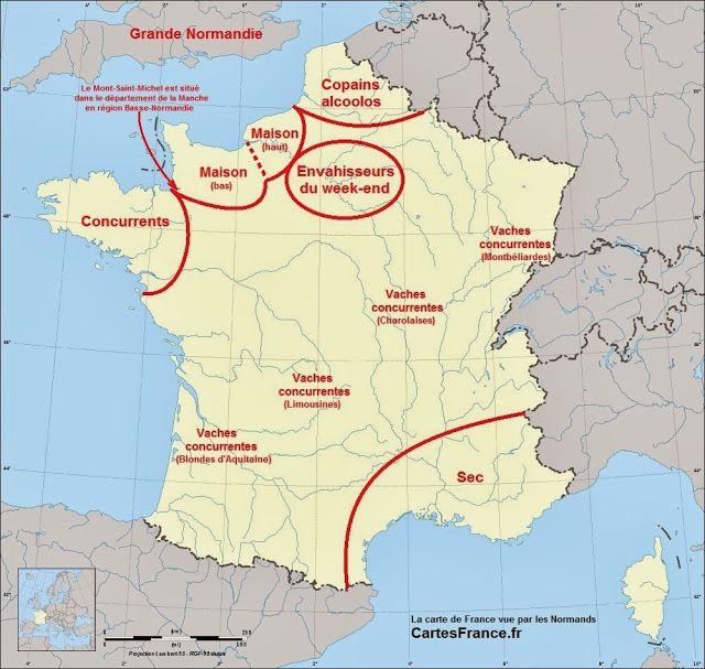 Carte De France Vue Par Les Francais Carte De France Faits