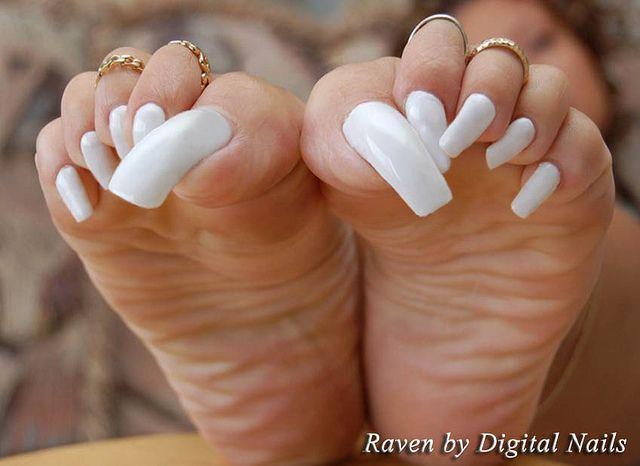 Raven Dn Long Toenails Toe Nails Acrylic Toe Nails