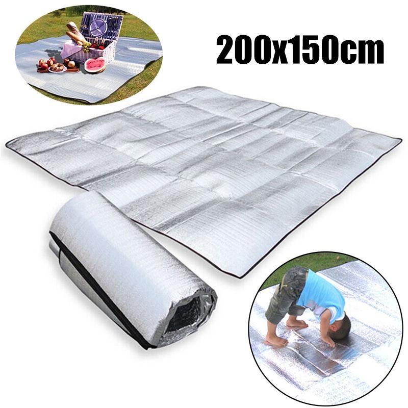 Outdoor Camping Sleeping Picnic Mattress Pad Waterproof Aluminum Foil EVA Mats