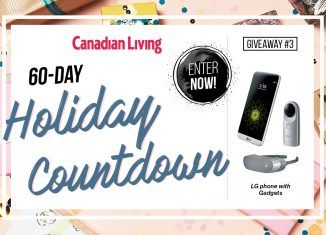 Canadian Living 60-Day Holiday Countdown Giveaway #3 ~ LG G5 Phone with accessory gift pack