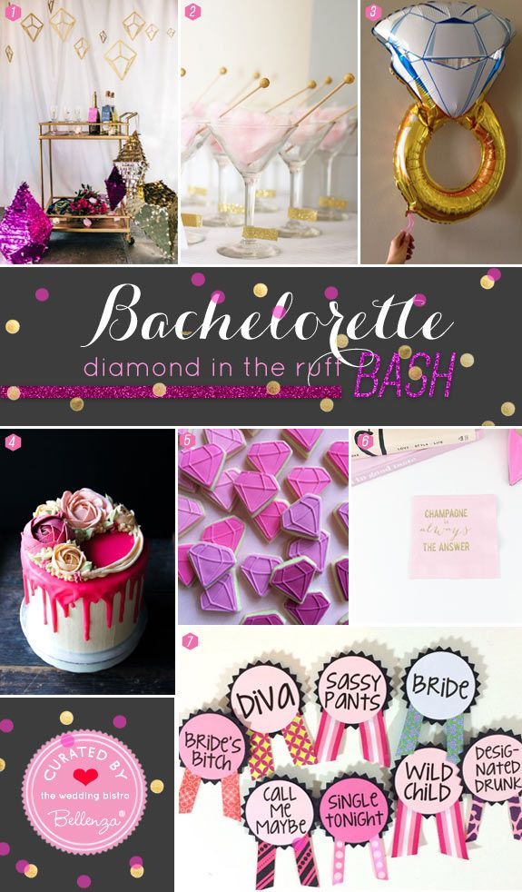 "A Tasteful Bachelorette Party Theme: ""Diamond in the Ruff"" with"