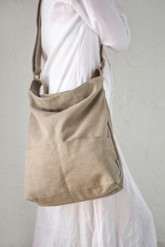 e2334a87b111 Canvas Women Bag, Canvas Crossbody Bag, Canvas Shoulder Bag, Canvas ...
