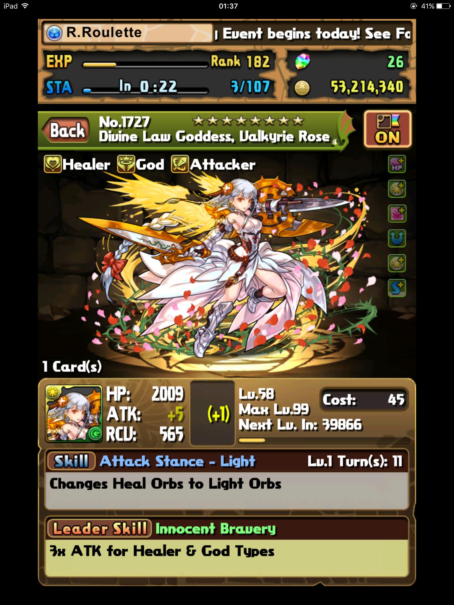 Divine Law Goddess, Valkyrie Rose
