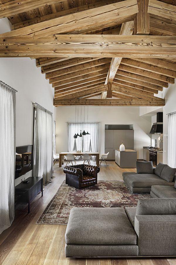 sala con cucina e zona pranzo | campagna | Pinterest | House design ...