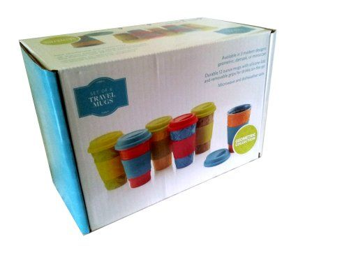 SCM Designs Geometric Collection Set of Six Travel Mugs with Lids and Removable Grips SCM Designs http://www.amazon.com/dp/B00FDXR8GI/ref=cm_sw_r_pi_dp_0M0rub0XHH1KW