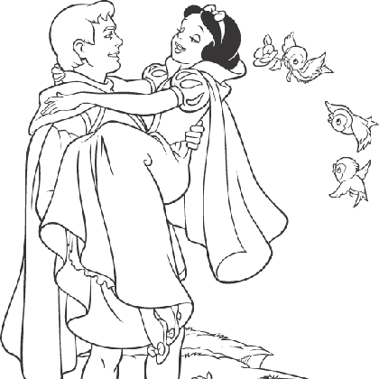 Coloriage Adulte Blanche Neige.Coloriage Blanche Neige Et Le Prince Blanche Neige Et Les
