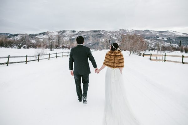 Destination Wedding in Steamboat Springs Colorado by Photographer Brant Smith #winterwedding #ivyandaster