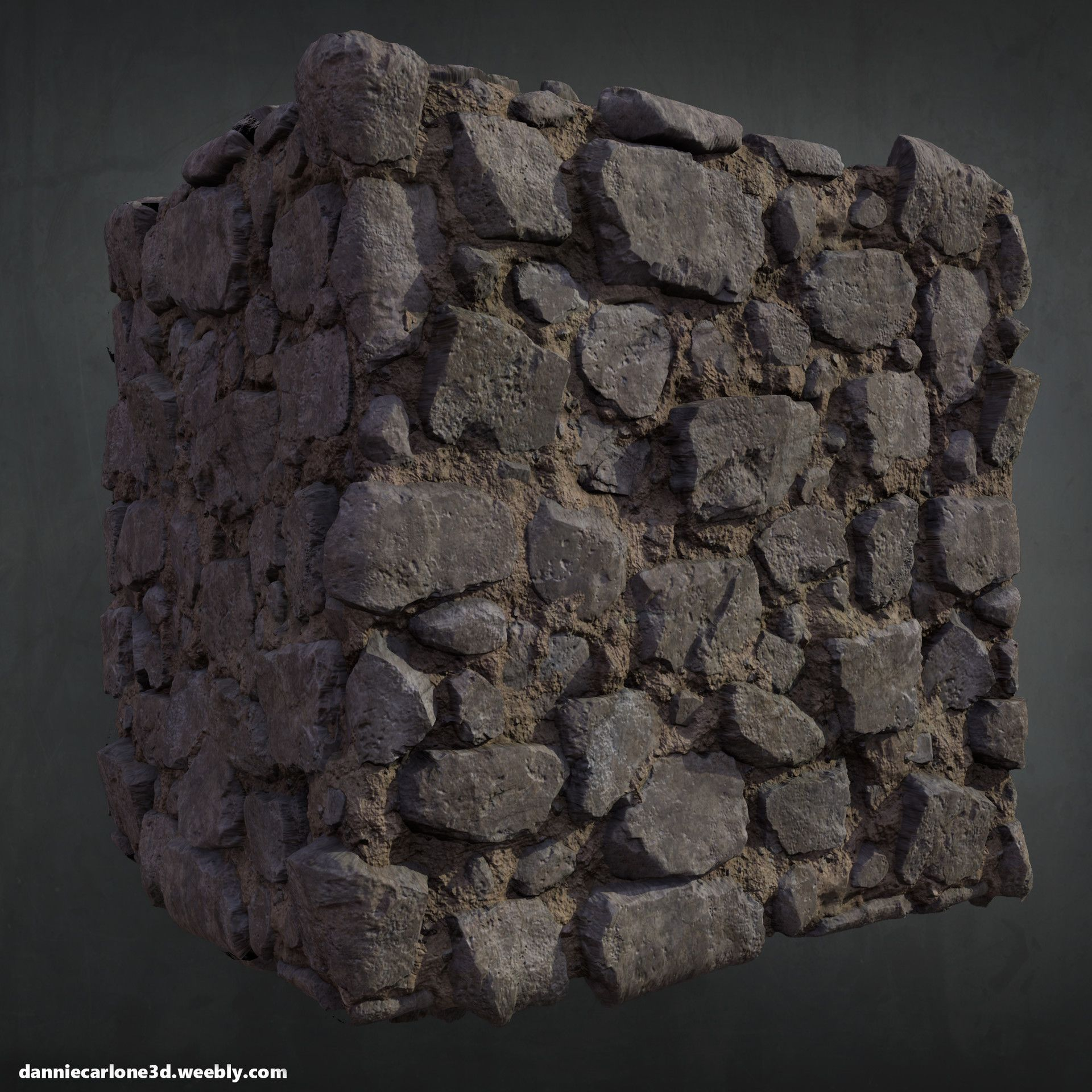 Artstation  Personal Work Stone Wall Made In Zbrush +