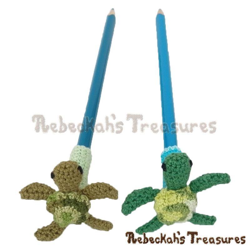 I love me some turtles! | Pencil Topper Turtle Friends via ...