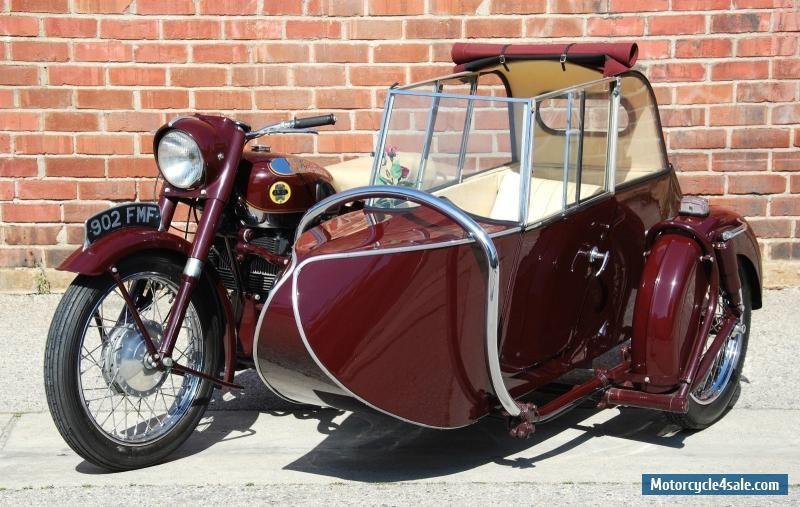 1956 Norton Square 4 W Garrard Sidecar Sidecar Classic