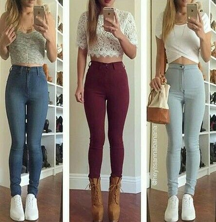 Pantalones Altos Fashion Super High Waisted Jeans Clothes